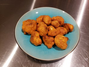 Plated - Breaded Buffalo Cauliflower Bites