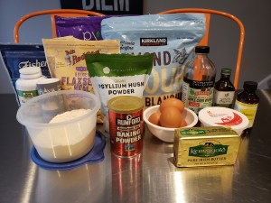 Ingredients - Keto Banana Nut Bread Faux-nana