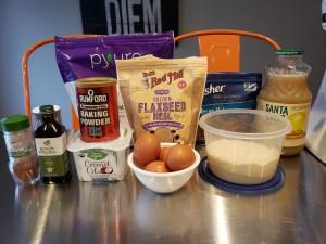 Ingredients - Cinnamon Pecan Muffins