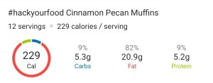 Nutrition Facts - Cinnamon Pecan Muffins