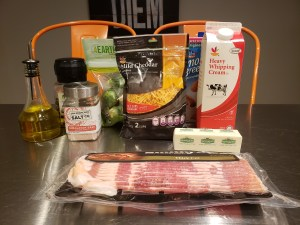 Ingredients - Loaded Brussels Sprouts Casserole au Gratin
