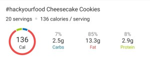 Nutrition - Cheesecake Cookies