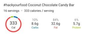 Nutrition - Keto Coconut Chocolate Candy Bar