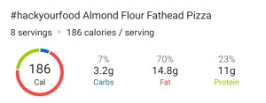 Nutrition - Almond Flour Fathead Pizza