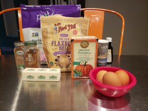 Ingredients - Pumpkin Flaxseed Muffins