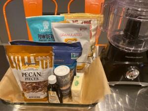 Ingredients - Pecan Pie Bars