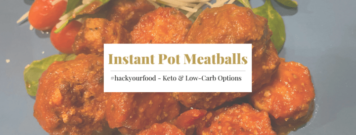 Homemade Keto Instant Pot Meatballs