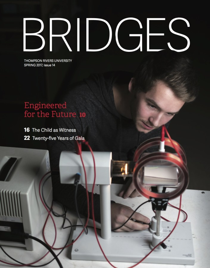 The cover of Thompson Rivers University's Magazine