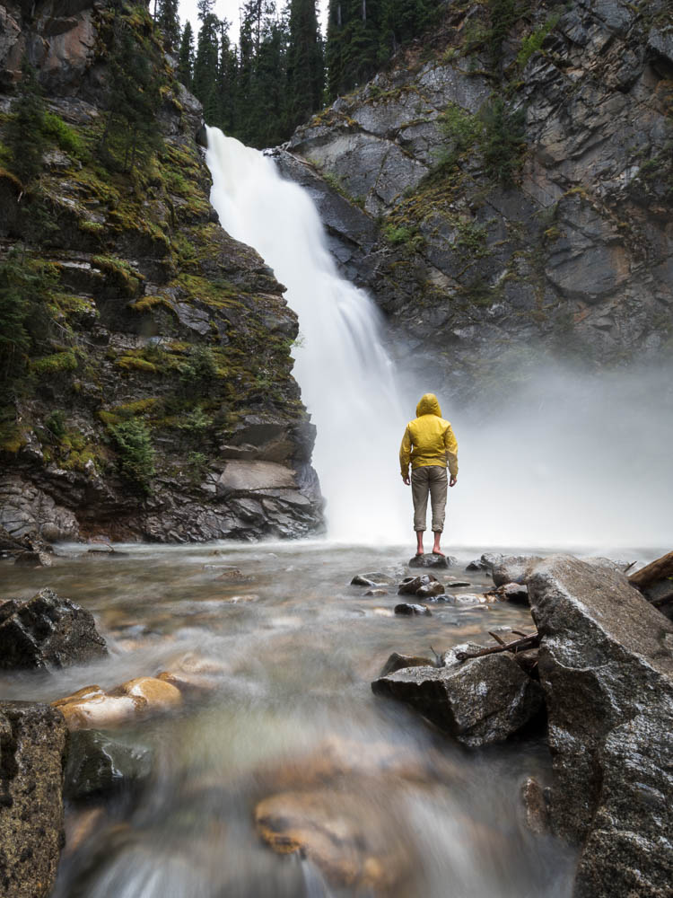 An adventurer looks at Tulameen Falls