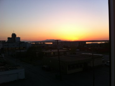 My first Alaskan sunset in Anchorage. This was taken at around 10:30pm.