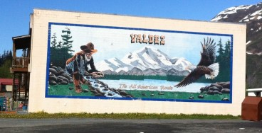 One of the murals in the town of Valdez.
