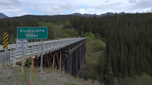 The Kuskulana Bridge was built in the dead of winter, with temps. dipping down to -50 and winds as high as 60 mph.