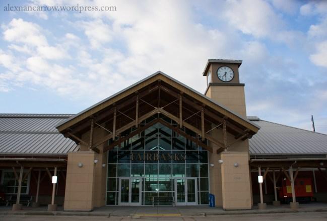 The Fairbanks train depot