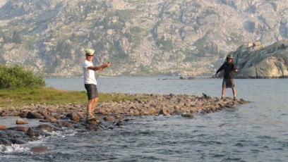 8/26/08: Colin and me at the inlet of Island Lake