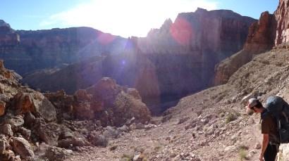 The descent to Deer Creek