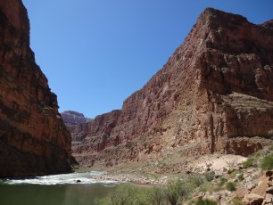 The confluence of Kanab Creek and the Colorado River