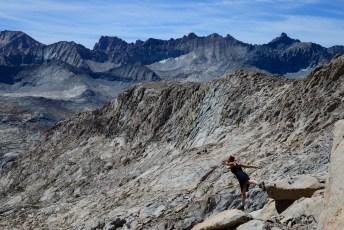 Kaweah Peaks ridge from Colby Pass - Black Kaweah at right