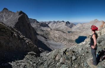 Looking towards Kaweah Gap and Nine Lakes Basin from Pants Pass