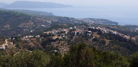 The Old Village, as seen from a nearby peak