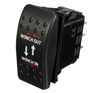 12V 7Pin 20A Winch InOut ONOFFON ARB Rocker Switch Car Boat 4 Colors LED | Alexnld