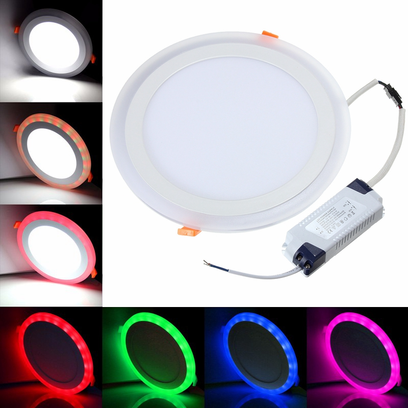 18w Rgb Dual Color Led Recessed Ceiling Round Panel Down
