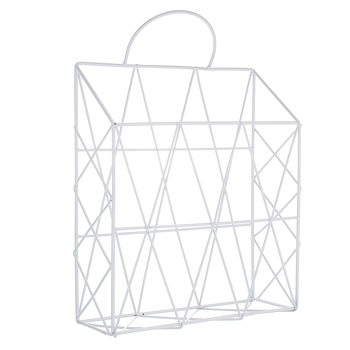 Modern Metal Wire Wall Hanging Shelf Baskets Rack