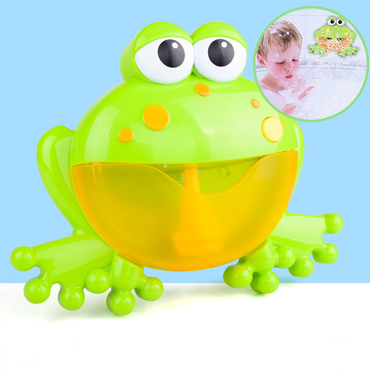 Big Frog Automatic Bubble Blower Music Bubble Maker Baby Bath Toy Bathtub Soap Bubble Machine