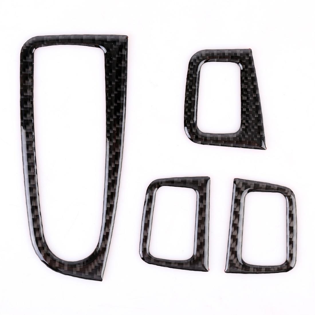 4 Pcs Car Carbon Fiber Door Lift Window Regulator Button Decorative Sticker For Mercedes Benz C