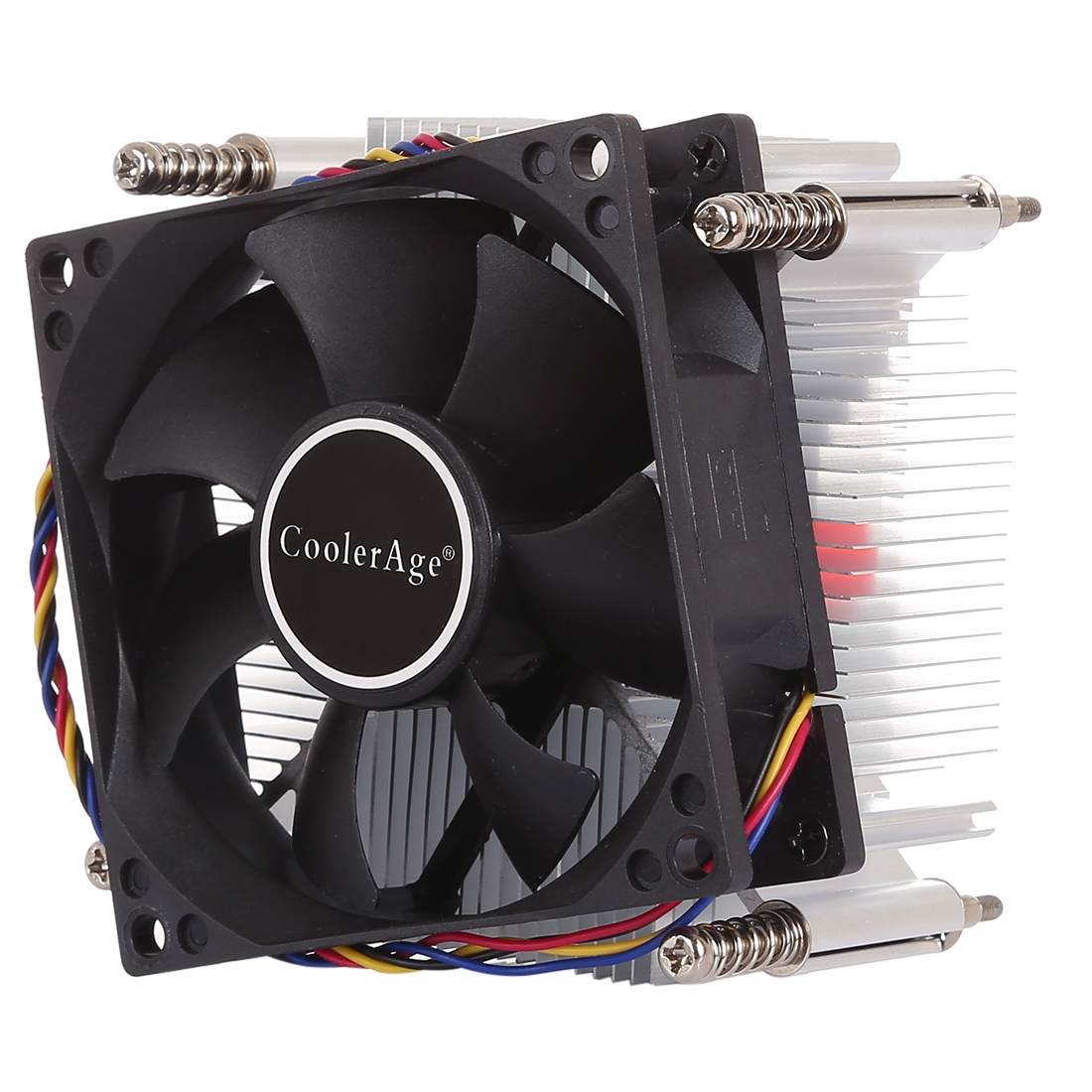 4pin Cpu Cooler Mute Silent Fan Heat Sink For Intel