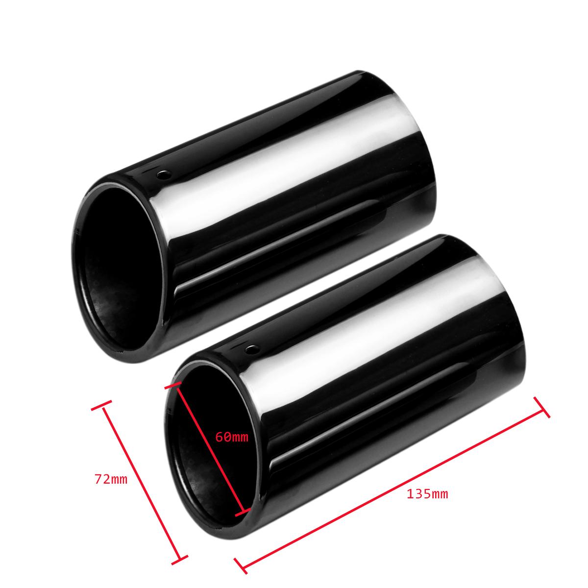 2x tail exhaust tip pipes titanium