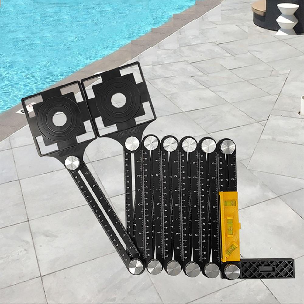 12 folding tile template tool measuring