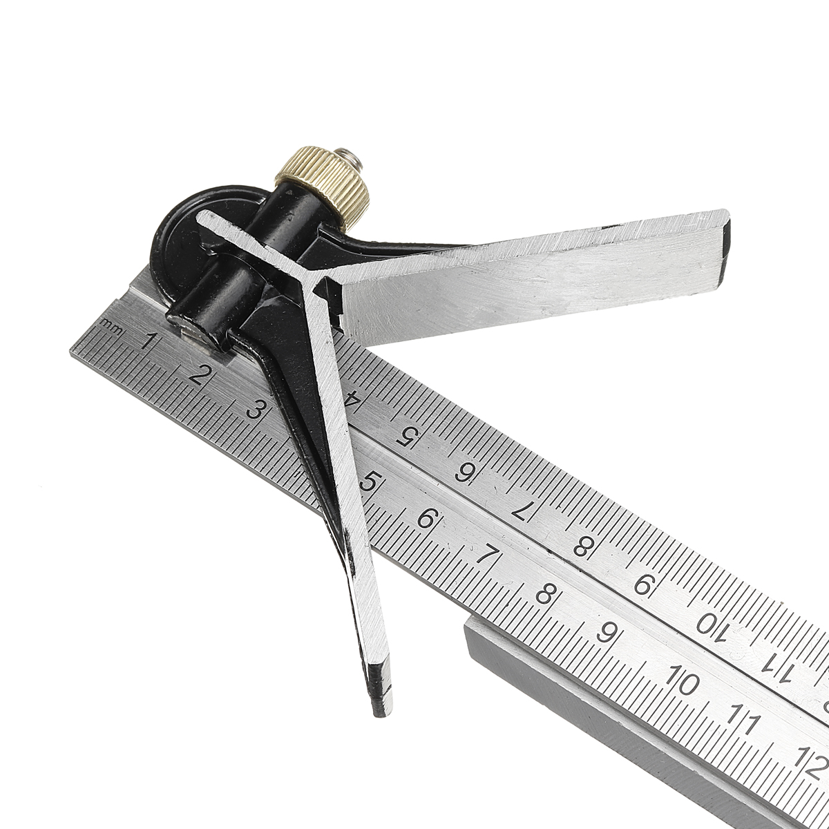 12 300mm Combination Square Protractor Level Measure