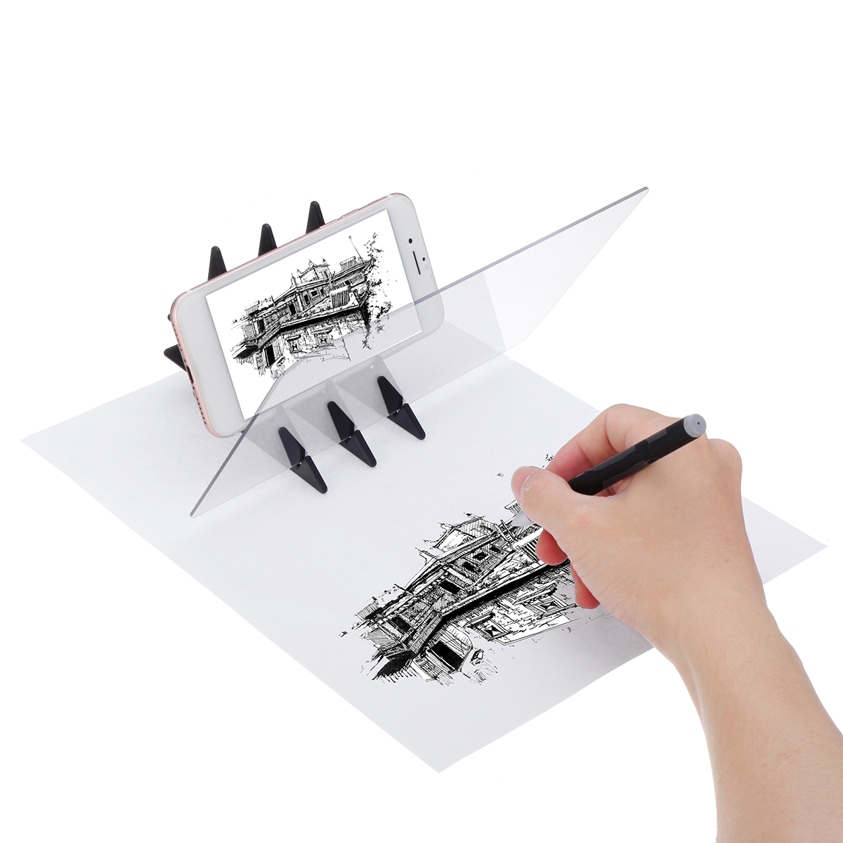 Led Stencil Tracing Drawing Board Light Sketch Mirror