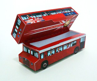 Embalagem para PenDrive London Bus Classic