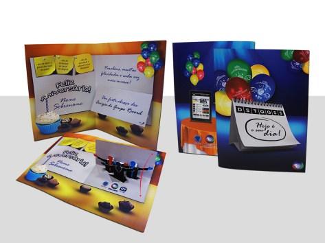 Cartão Pop-Up de Feliz Aniversário