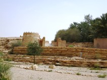 Note the circular tower structure on the left, which is the architectural style of Old Diriyah's defences