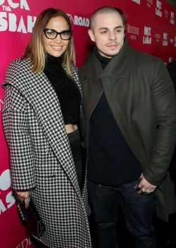Jennifer Lopez & Casper Smart at Rock the Kasbah Premiere