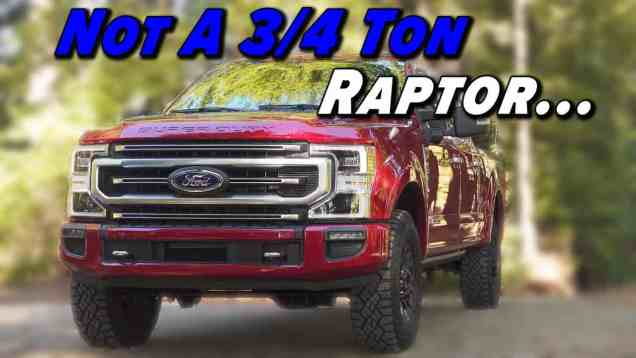 Ford's Super Duty Tremor Isn't A Super-Sized Raptor
