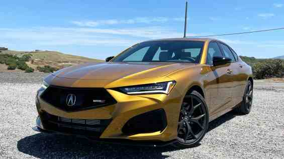2021 Acura TLX Type S Front Quarter 3