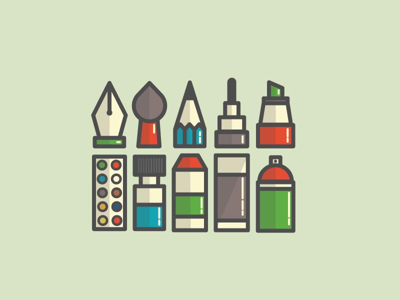 kemal-Şanlı-paint-icons