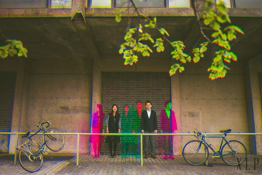 Color separation engagement portraits