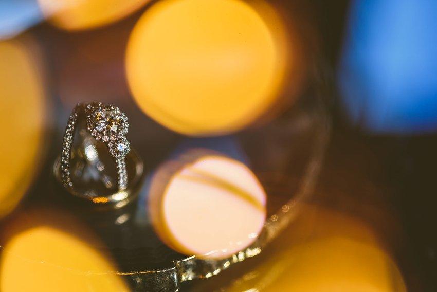 Lenox Hotel wedding rings with creative light