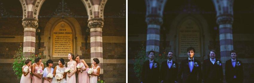 creative wedding party photos in Boston
