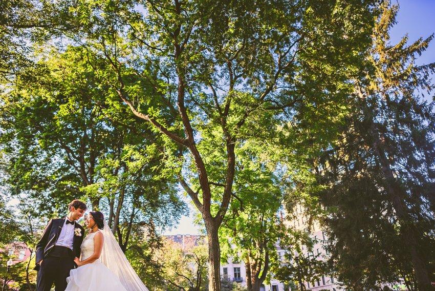wedding portraits in Boston Public Garden