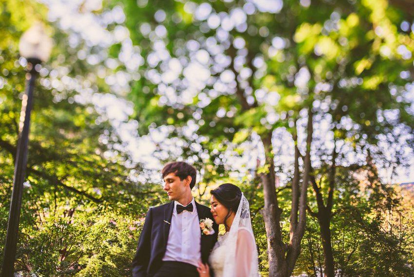 romantic Public Garden wedding photos