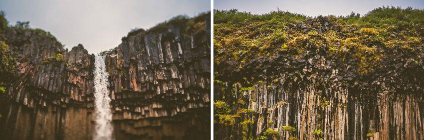Svartifoss in Skaftafell Iceland