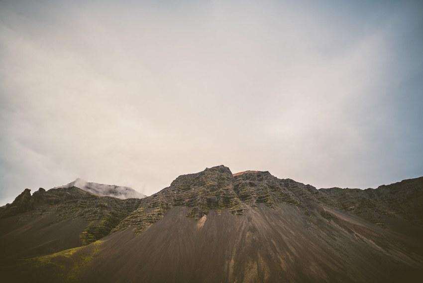 Icelandic mountains along Ring Road