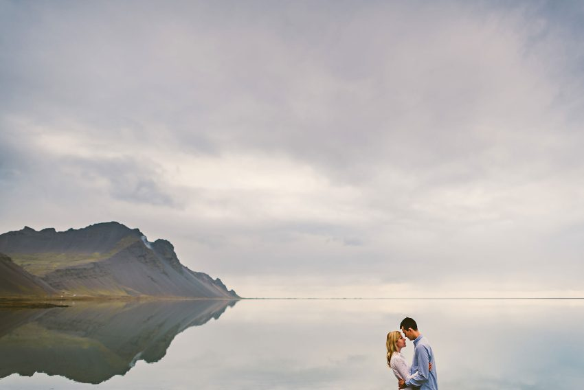 Iceland eastern fjords engagement photos