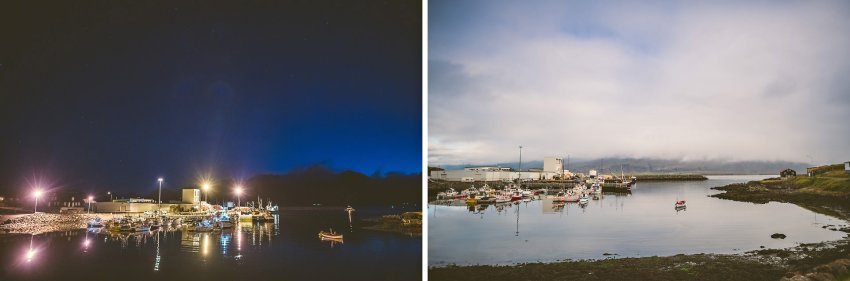 night and day in Djupivogur