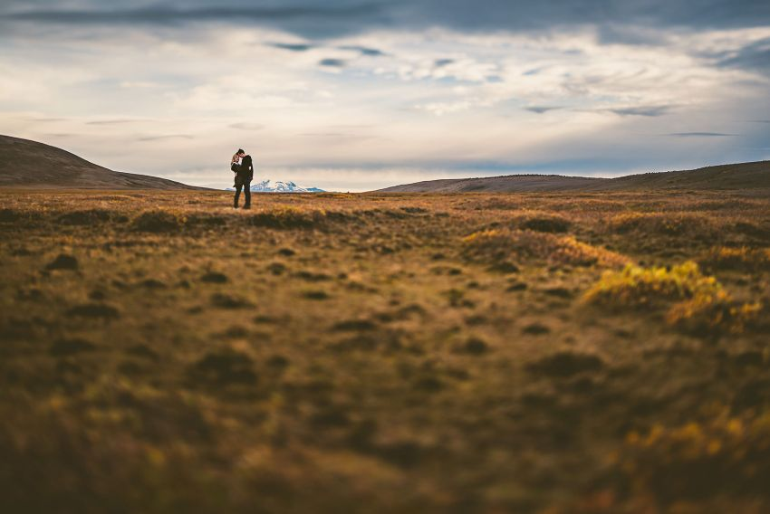 e-session portrait in Icelandic terrain